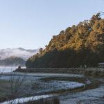 View of a DOC Hut along the Lake Waikaremoana Great Walk
