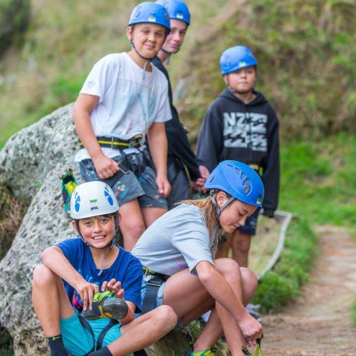 Rock Climbing group close up CastelRock